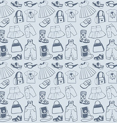Seamless pattern clothes vector