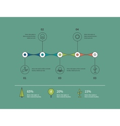 Ecology infographic elements flat vector
