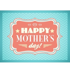 Happy mothers day typography letters font type vector