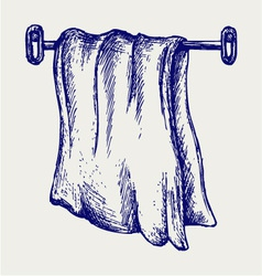 Kitchen towel vector