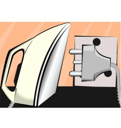 Iron box and electric pin vector