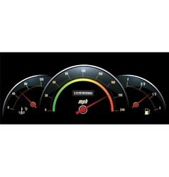 Speedometer temperature indicator and fuel vector