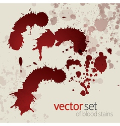 Splattered blood stains set 2 vector