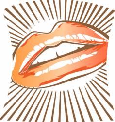 Lip design vector
