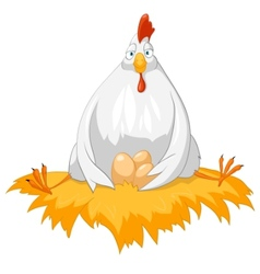 Cartoon character chicken vector