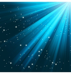 Blue luminous rays vector