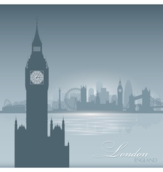 London england skyline city silhouette background vector
