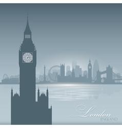 London england skyline city silhouette background vector