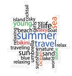 Summer travel with word vector