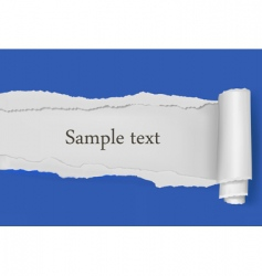 Ripped paper blue background vector