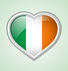 Irish heart icon vector