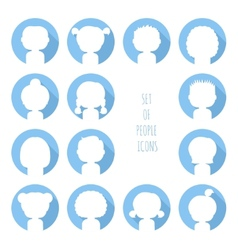 Set of colorful silhouette people icons funny vector