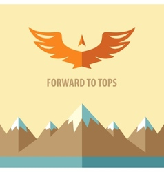 Forward to topstourism mountain climbing vector