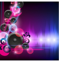 Abstract equalizer background with speakers vector