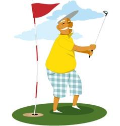 Senior golfer vector