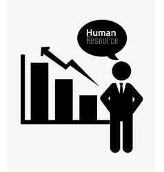 Human resources design vector