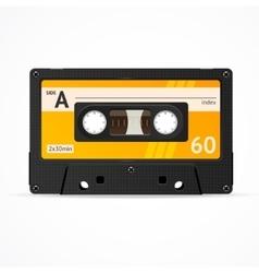 Orange cassette tape isolated vector