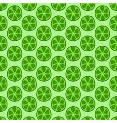 Seamless doodle lime pattern vector