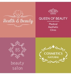 Set of logos and symbols for beauty vector