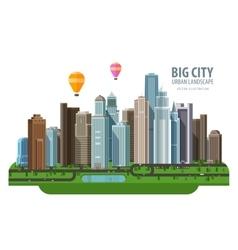 Big city logo design template construction vector