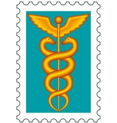 Caduceus stamp vector