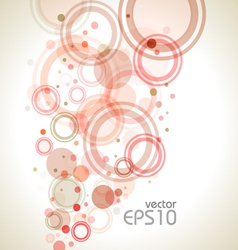 Rounds background warm vector