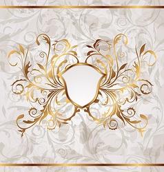Grunge vintage heraldic shield seamless floral vector