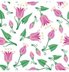 Pink flower pattern vector