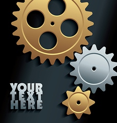 Machine gears background vector