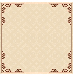 Background with ornament in corners vector