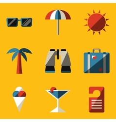 Flat icon set travel vector