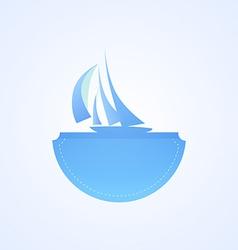 Yacht in sea vector