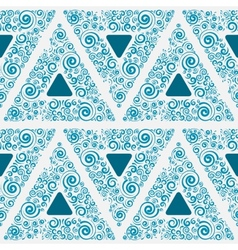 Blue seamless ornament for wallpaper vector