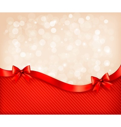 Holiday background with gift glossy bows and vector