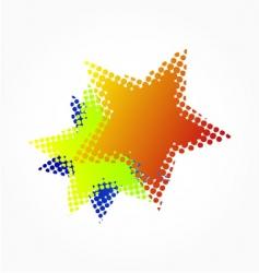 Halftone stars vector
