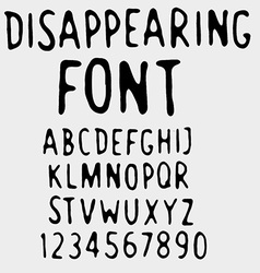 Disappearing font vector