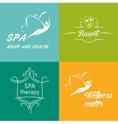 Set of logos for the wellness center spa vector