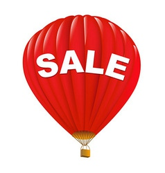 Red sale hot air balloons vector