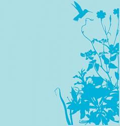 Floral garden graphic frame vector