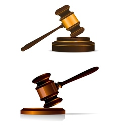 Judge or auctioneers gavel on white vector
