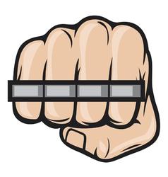 Brass knuckle fist vector