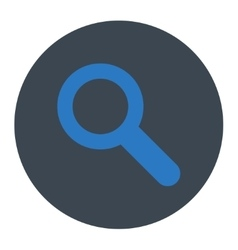 Search flat smooth blue colors round button vector