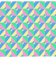Triangle symmetry vintage pattern vector