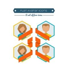 Flat avatars vector