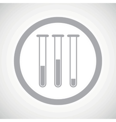 Grey test-tubes sign icon vector
