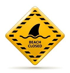 Beach closed sign vector