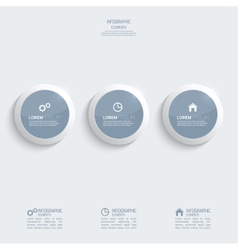 Glossy plastic buttons for infographic vector