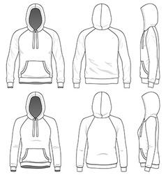 Raglan hoodie vector