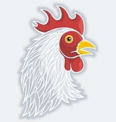 Rooster head gray vector