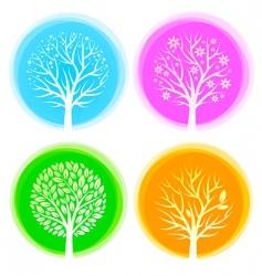 Seasons trees vector